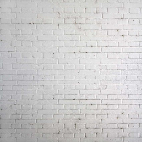 White Brick Wall Photography Backdrop - 1522