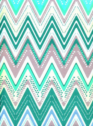 Printed Teal Jewel Chevron Backdrop - 2337