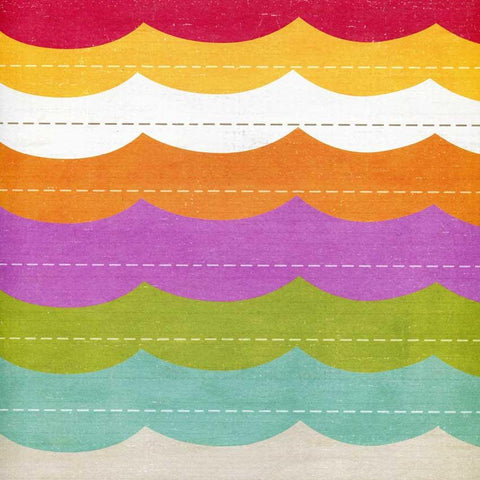 Rainbow Waves Backdrop - 3541