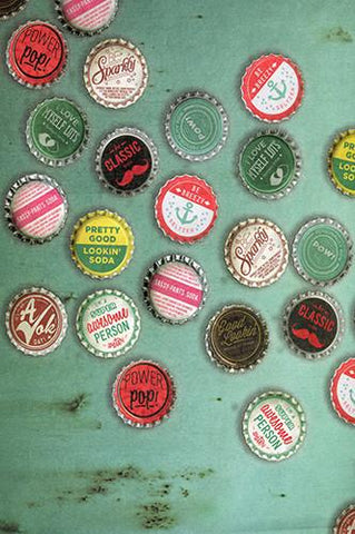 Vintage Bottle Cap Backdrop - 429