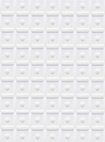 White Wall Victorian Pattern Photo Background - 4641