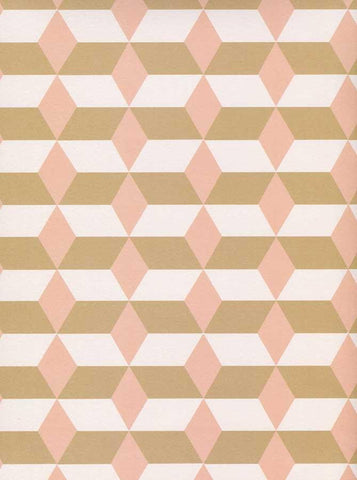 Printed Tan Blush Diamond Stripe Backdrop - 6122