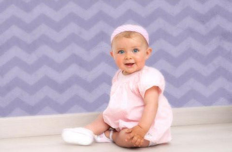 Purple Chevron Backdrop - 9055