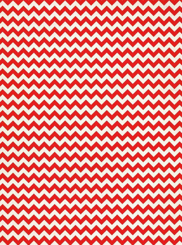 Red Chevron Backdrop - 9146
