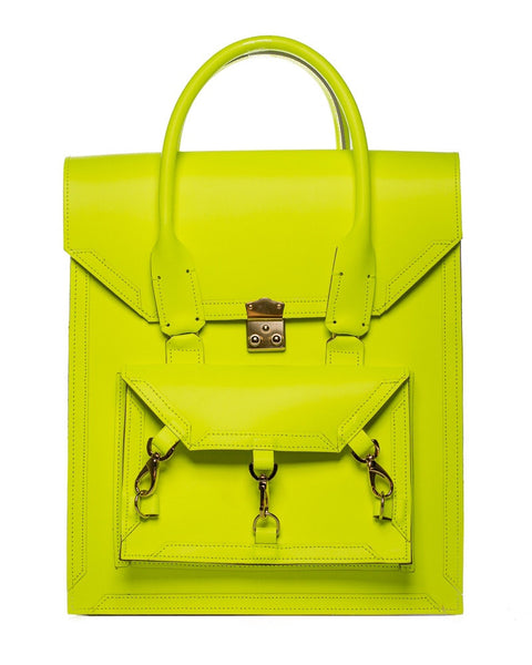 Medium Pelham Bag: Neon Yellow