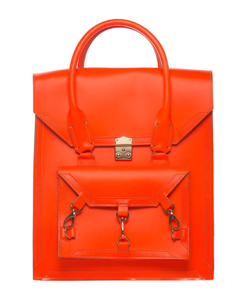 Medium Pelham Bag: Neon Orange