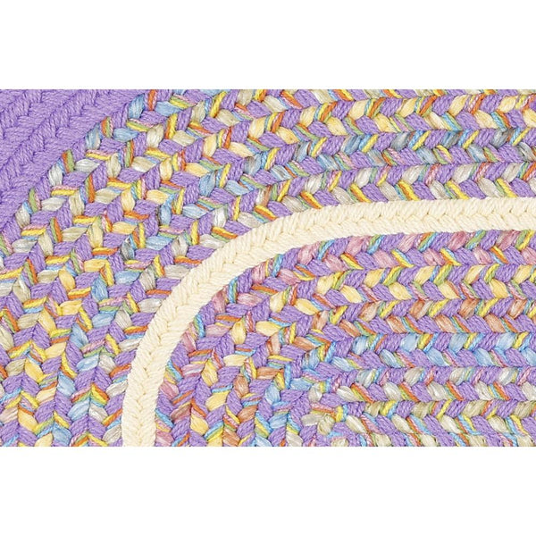 Kids Braided Area Rug in Violet Banded-Braided Rug-Super Area Rugs