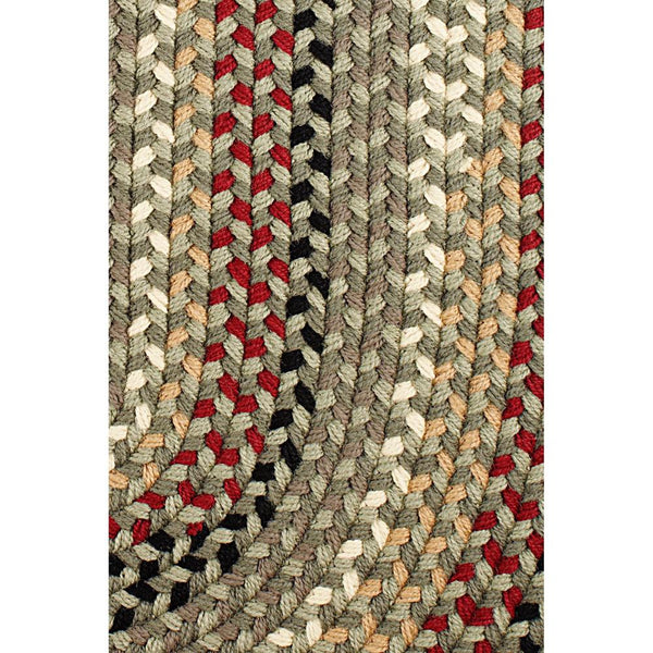 Santa Braided Area Rug in Forest Green-Braided Rug-Super Area Rugs