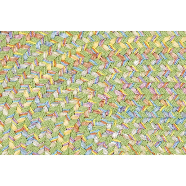 Juvi Braided Area Rug in Lime Green Multi-Braided Rug-Super Area Rugs
