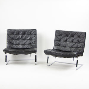 1960's Knoll International Mies Van Der Rohe Tugenthad Lounge Chairs