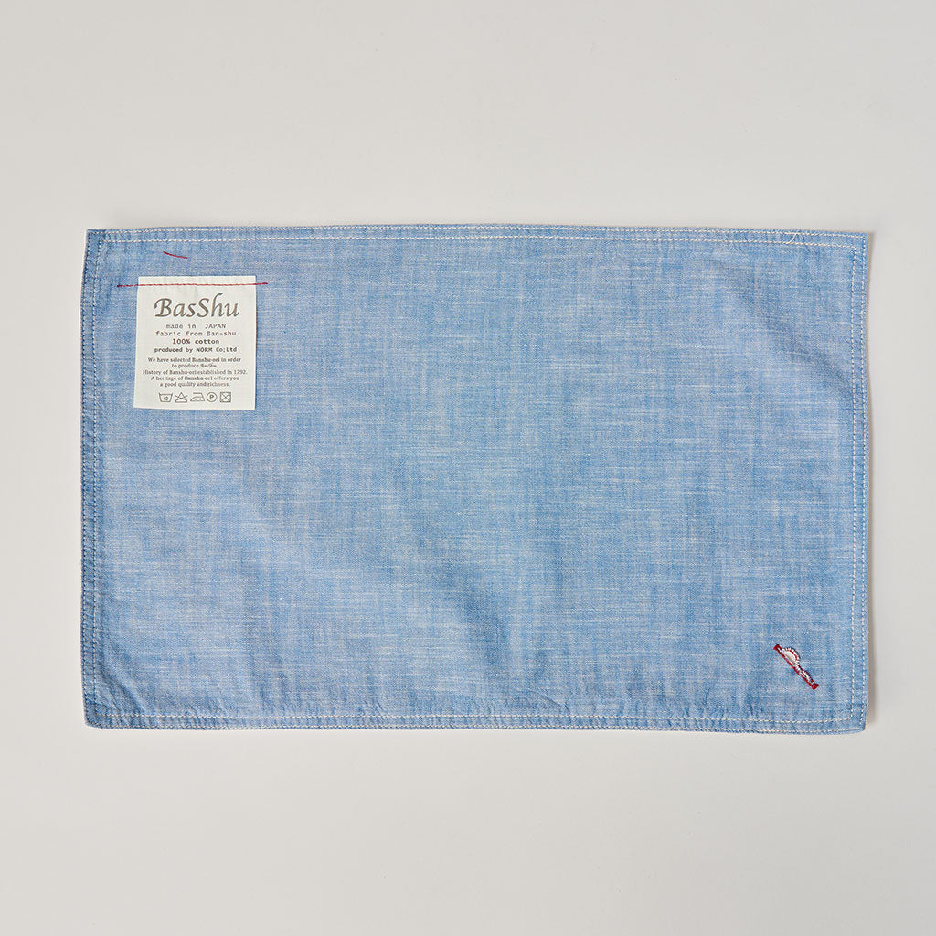BASSHU BLUE CHAMBRAY PLACE MATS