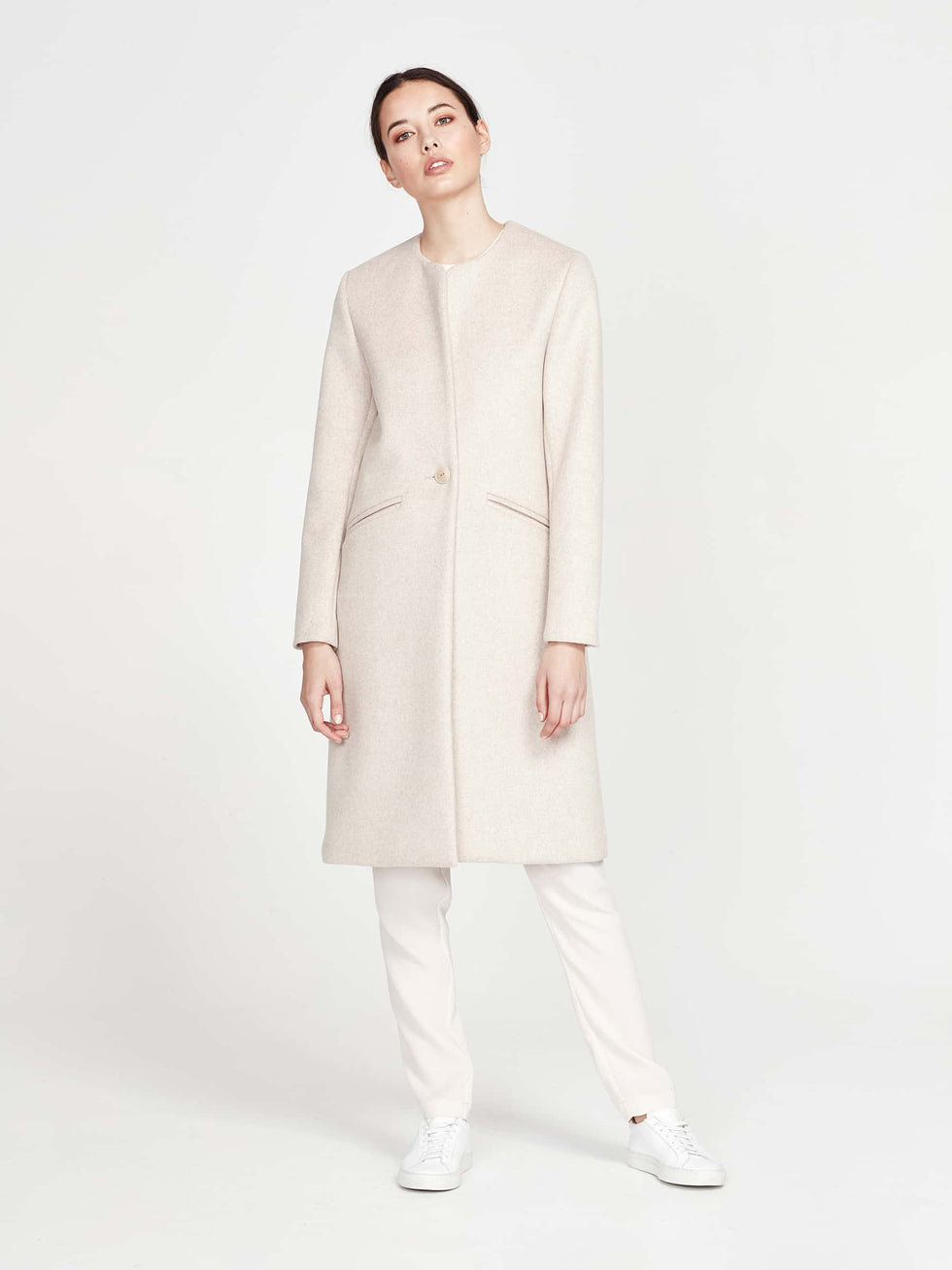 Colette Coat (Brushed Coating) Biscuit