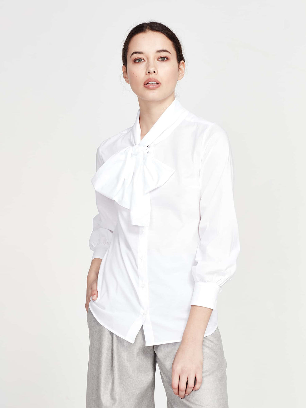 Marjorie Shirt (Cotton Lawn) White