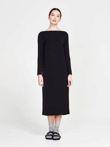 June Dress (Poly Georgette) Black