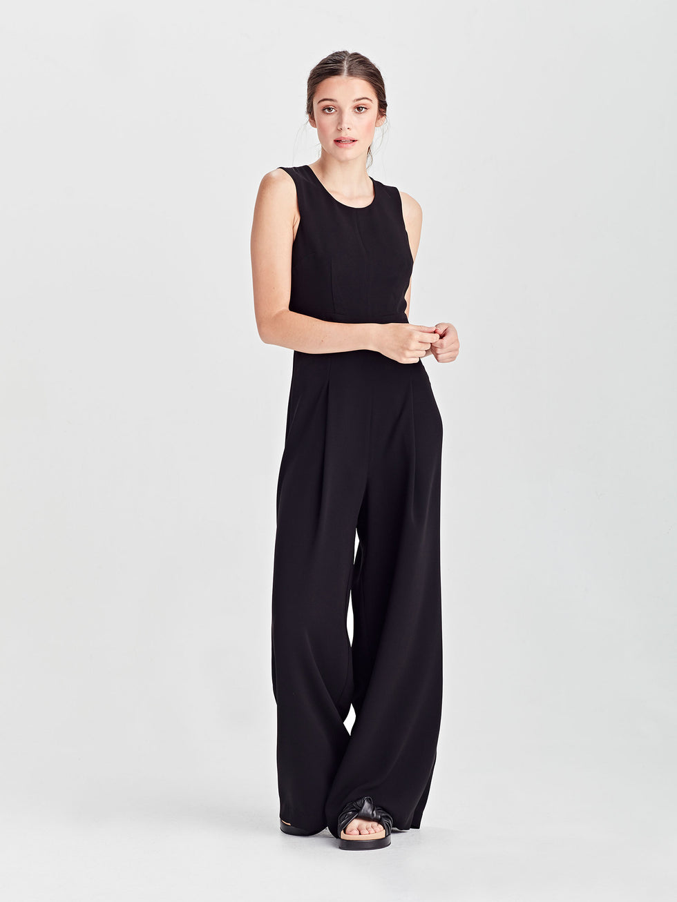 Juliana Jumpsuit (Luxe Coloured Suiting) Black