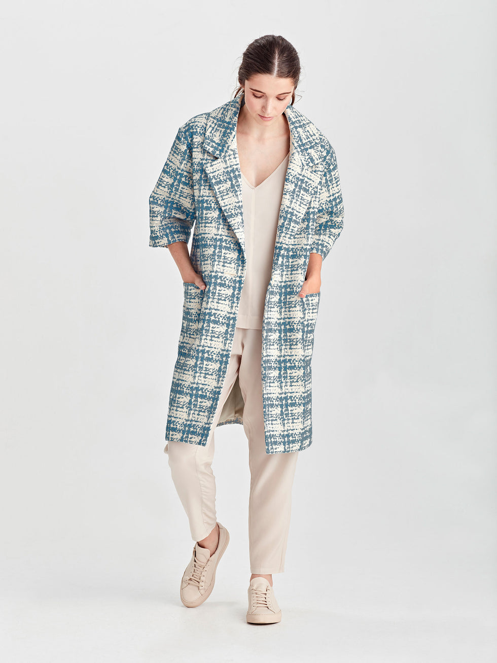 Duster Coat (Lady Tweed) Sky