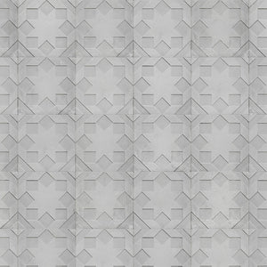 Moulded Star Wallpaper by Nada Debs for Monochrome Collection- NLXL - Do Shop
