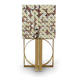 Pixel Cabinet with Anodised Gold Legs - Boca Do Lobo - Do