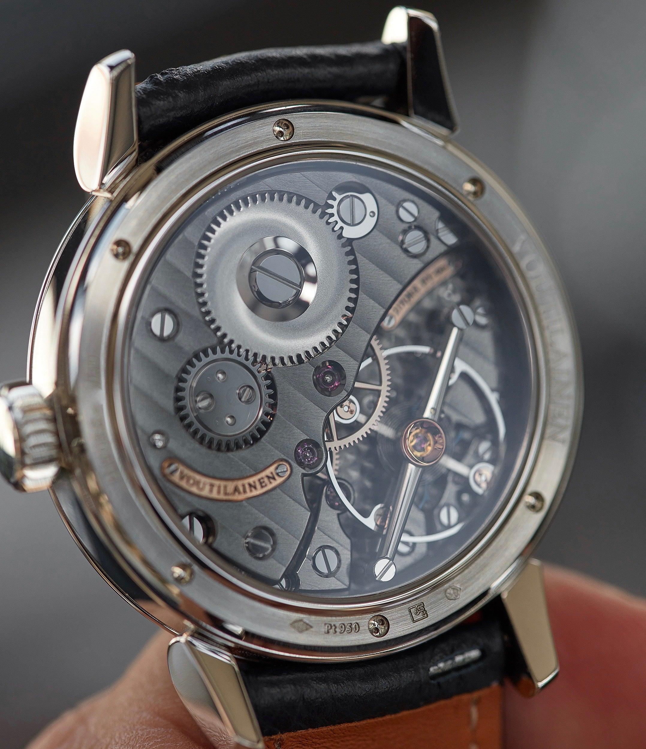 manual-winding Voutilainen 217QRS Retrograde Date platinum dress watch for sale online at A Collected Man London approved re-seller of independent watchmakers