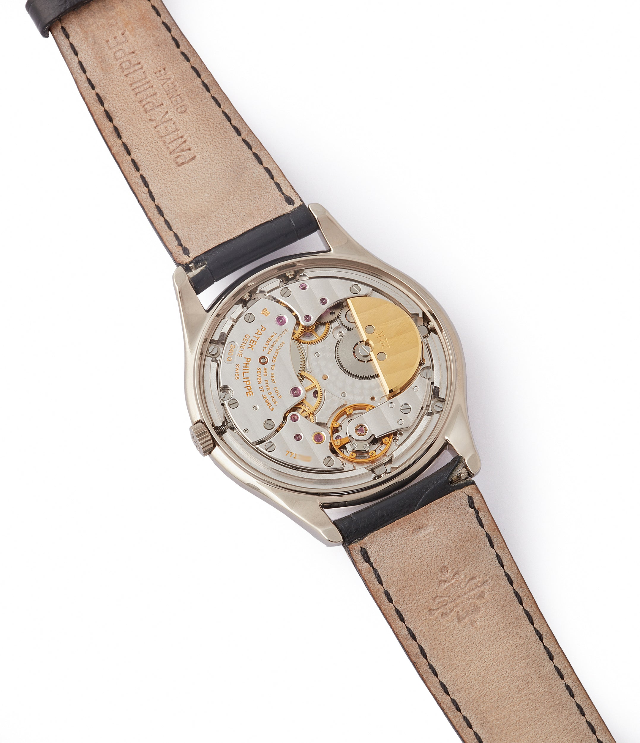 240Q automatic Patek Philippe 3940G Perpetual Calendar vintage rare watch English dial for sale online at A Collected Man London UK specialist of rare watches