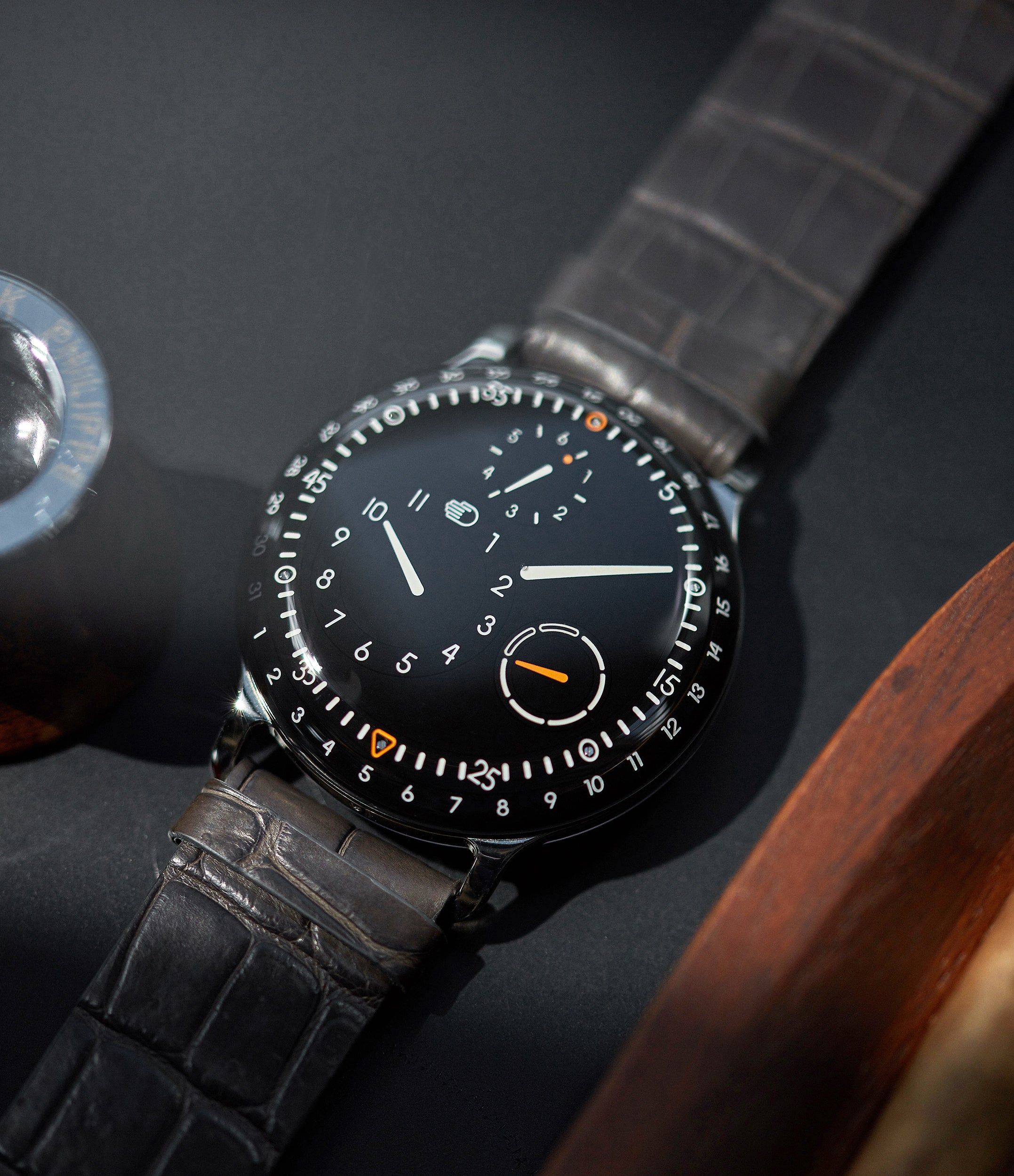 shop Ressence watch Type 3B oil-filled dial rare wristwatch for sale online at A Collected Man London UK specialist of independent watchmakers