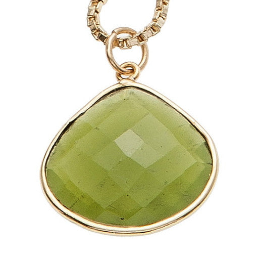 Green Chalcedony Stone Necklace