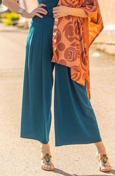 High-Waisted Culotte - Moroccan