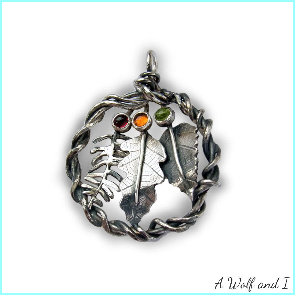 Sterling Silver Oak Leaf Pendant