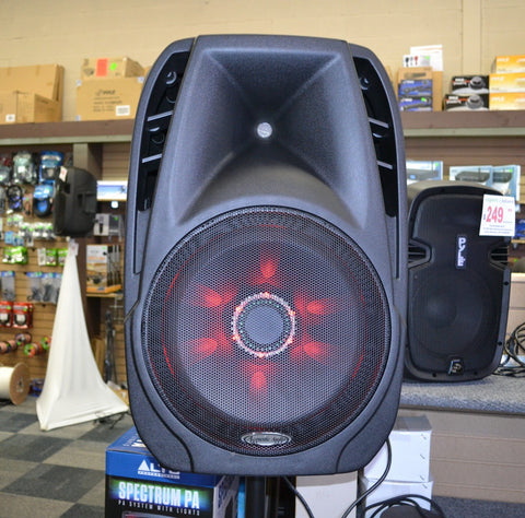 Acoustic Audio 4315Th 15 1000 Watt Portable Rechargeable Pa System W/ 2 Built-In Dual Vhf Wireless