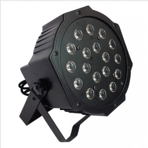 18 Watt Flat Par Can Light Led Lights Rgb Colour Mixing 7 Channel Dmx512 Disco Dj Stage Lighting