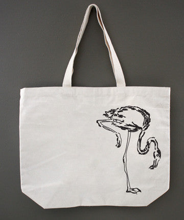 Flamingo Sketch Tote