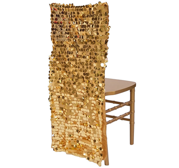 Payette Sequins Chair Back In Gold
