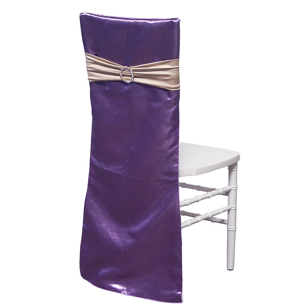Bridal Satin Chair Back w/ Band