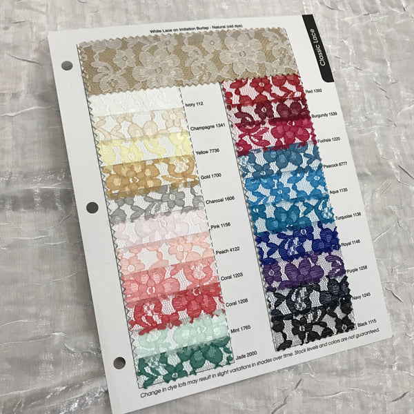 Classic Lace Color Card
