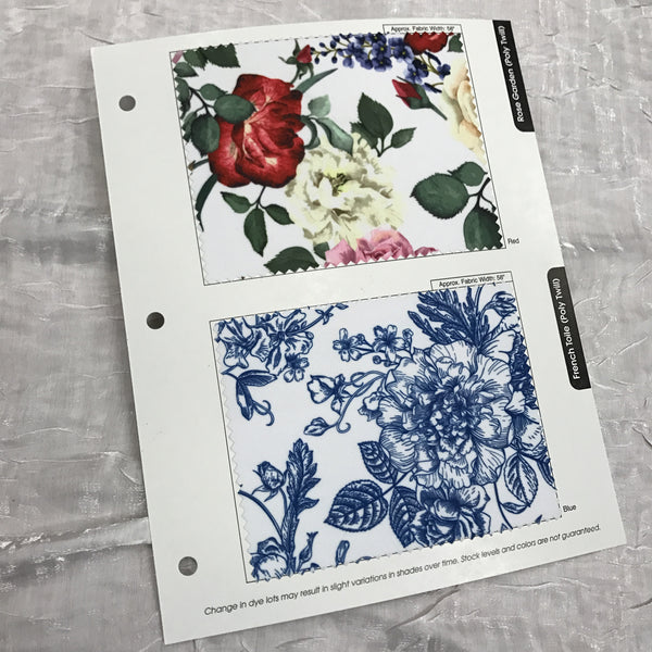 Rose Garden & French Toile Combo Color Card