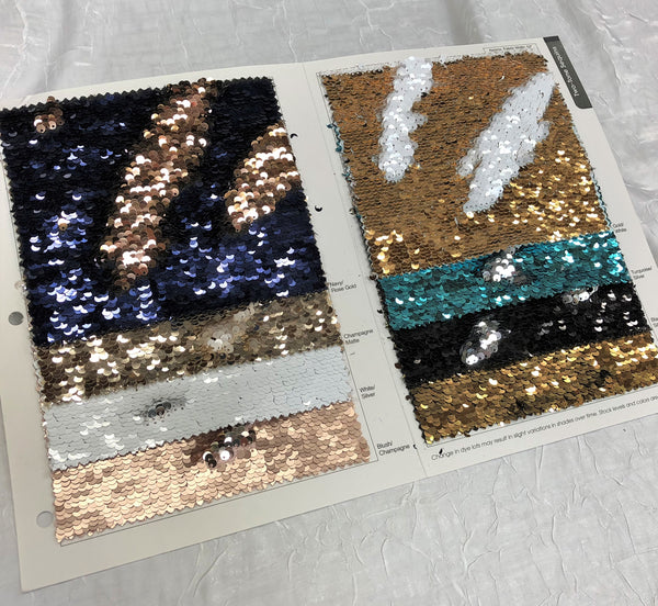 Two-Tone Sequins Color Card