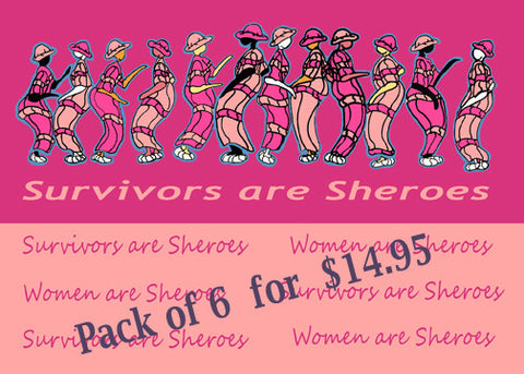 Survivors are Sheroes 6 pack of cards