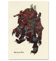 'Tank Head' Woodblock Print