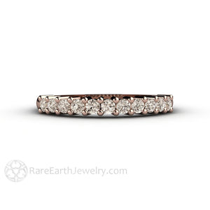 Champagne Brown Diamond Anniversary Band 14K Round Cut Natural Diamonds  Rare Earth Jewelry