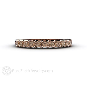 April Birthstone Ring Cognac Brown Diamond Stacking Band Rare Earth Jewelry