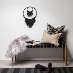 Large Double Cuttlewood Wall Hanging - Black
