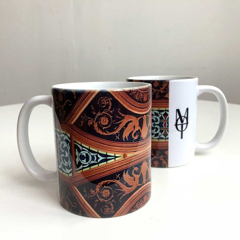 Detroit Opera House Coffee Mug, Stained Glass & Plaster Detail Coffee Cup