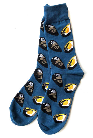 Mussel Shell Print Men's Socks, Well Done Goods