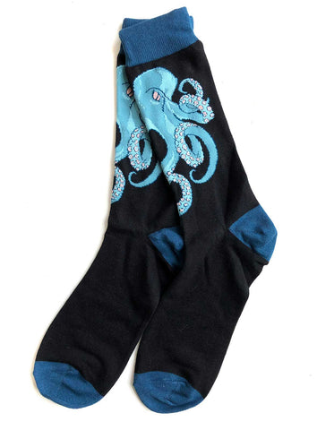 Octopus Print Men's Socks, Well Done Goods