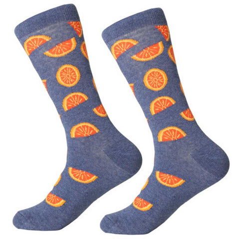 Orange Slice Men's Socks
