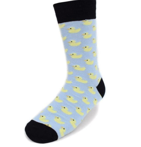 Yellow Rubber Duckie Socks. Men's Fancy Socks by Parquet