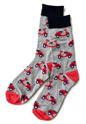 Scooter Print Men's Socks, Well Done Goods