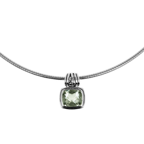 Chrissy pendant mint quartz is a sterling silver and mint quartz pendant. Buy with chain, choker or on its own.