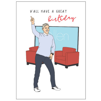 Ellen Degeneres Birthday Card