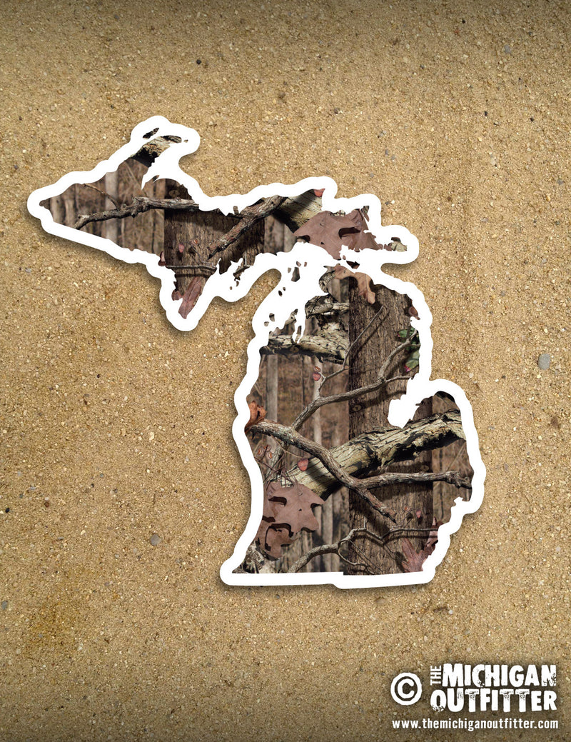 "4"" Michigan Sticker - Plaid"